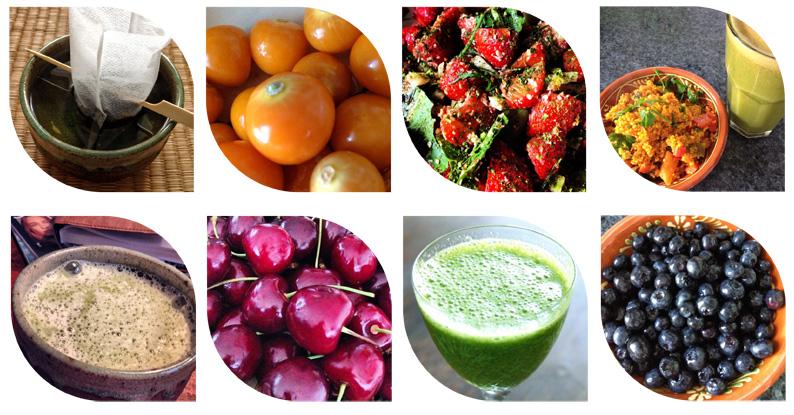 Obst Gemüse Smoothie Quinoa Grüntee