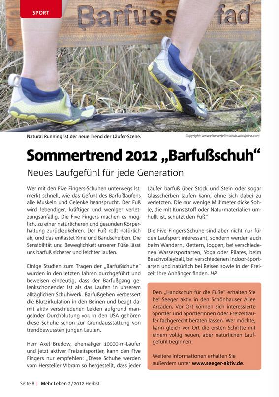 Seeger Sanitätshaus Magazin MehrLeben