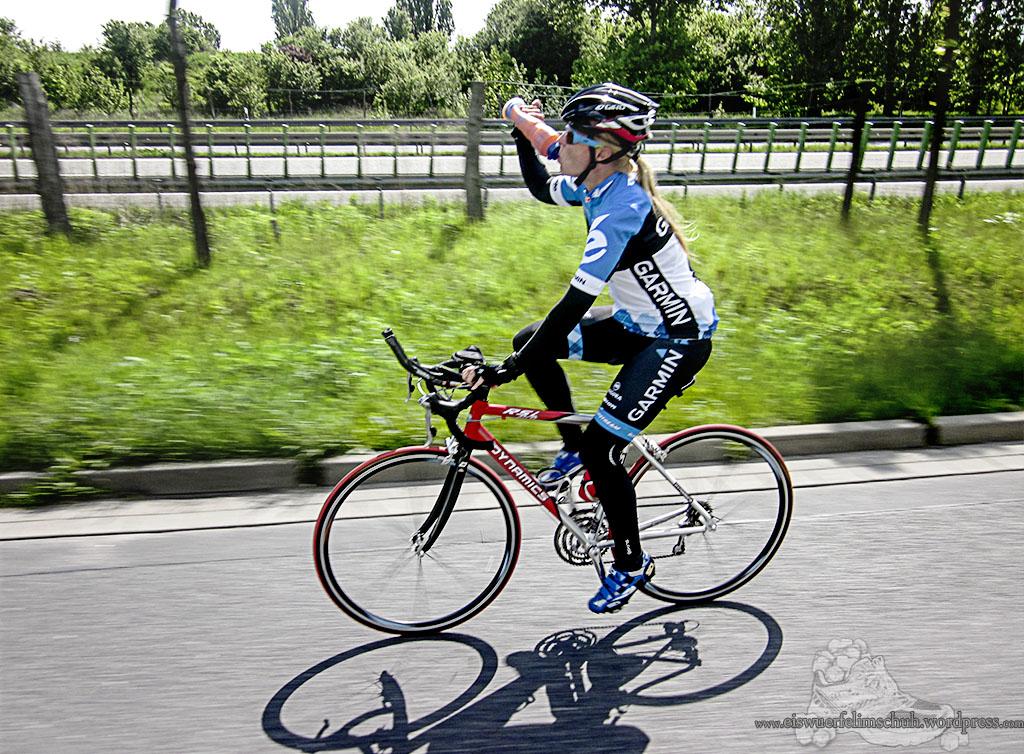 Eiswuerfelimschuh Rennrad Triathlon Koppeltraining Trainingscamp Garmin Skins