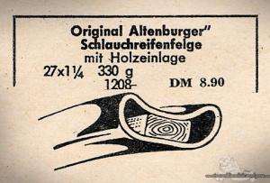 Vintage Rennrad Katalog - Holzfelge