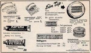 Vintage Rennrad Katalog - Kleber und Nähgarn 1