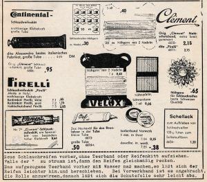 Vintage Rennrad Katalog - Kleber und Nähgarn 2