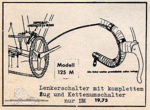 Vintage Rennrad Katalog - Lenkerschaltung 1