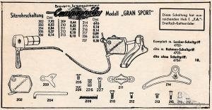 Vintage Rennrad Katalog - Lenkerschaltung 2