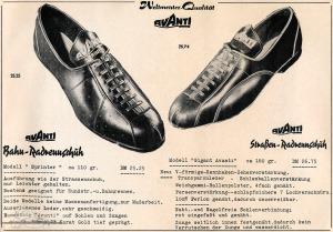 Vintage Rennrad Katalog - Radrennschuhe - Bahn Straße