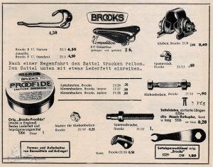 Vintage Rennrad Katalog - Rennsättel Brooks 2
