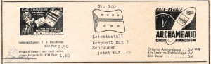 Vintage Rennrad Katalog - Schuhplatten 1