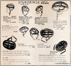 Vintage Rennrad Katalog - Sturzringe