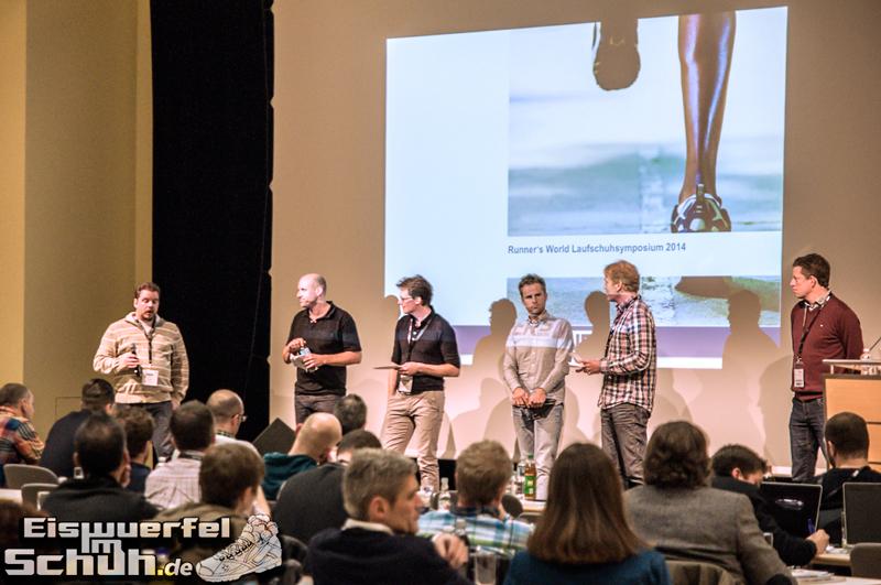 EISWUERFELIMSCHUH Sportmesse Laufschuh-Symposium ISPO 2014 (01)
