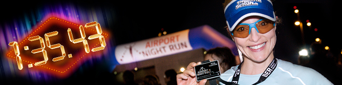 EISWUERFELIMSCHUH - BER AIRPORT NIGHT RUN Berlin Halbmarathon Banner