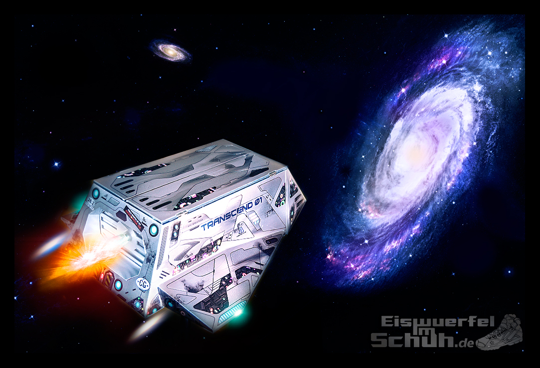 EISWUERFELIMSCHUH - TRANSCEND BROOKS TEST Laufschuh Raumschiff (13)