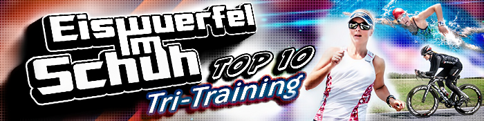 EISWUERFELIMSCHUH - TOP 10 Triathlon Trainings Tips Banner Header
