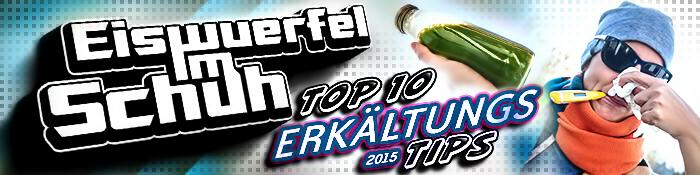 EISWUERFELIMSCHUH - Erkaeltungs Tipps 2015 Hilfe Banner