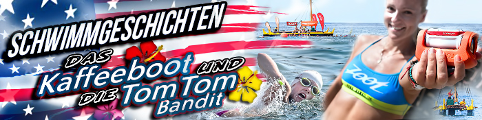 EISWUERFELIMSCHUH - IRONMAN Kona Kaffeeboot TomTom Bandit Banner
