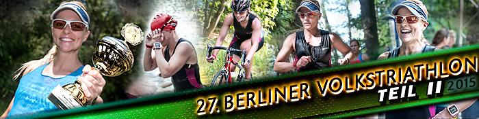 EISWUERFELIMSCHUH - 27 Berliner Volkstriathlon Triathlon Wettkampf Teil 2 Banner